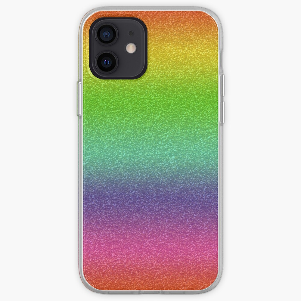 Rainbow Glitter Texture iPhone Case & Cover