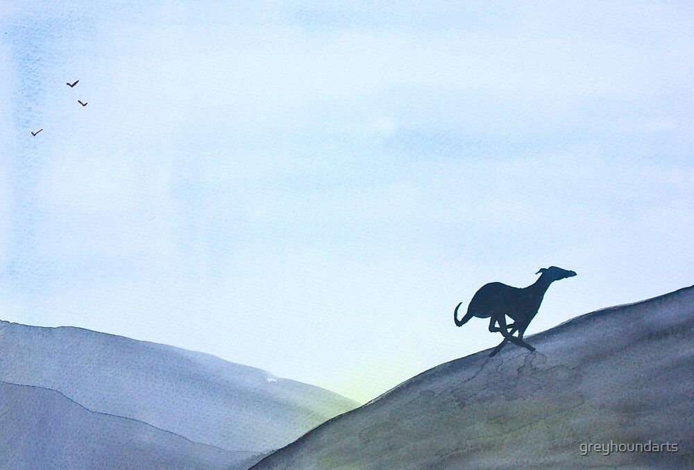 Running Greyhound Whippet Lurcher by greyhoundarts