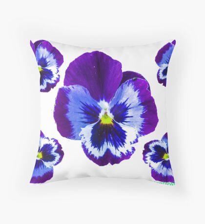 five flowers Throw Pillow