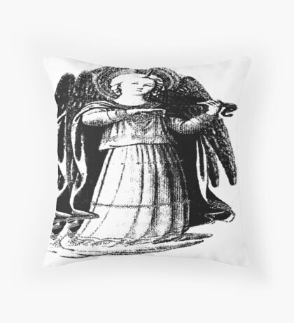 Angel with Violin Throw Pillow