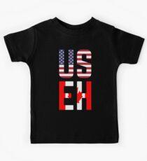 Camiseta para niños Bandera de USEH America Canada Funny American Canadian