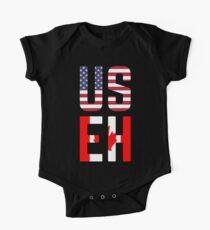Body de manga corta para bebé Bandera de USEH America Canada Funny American Canadian