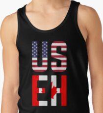 USEH America Canada Flag Funny American Canadian Tank Top