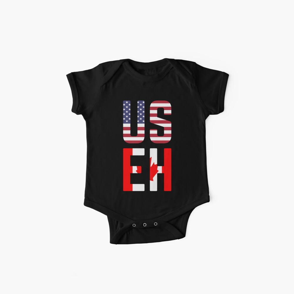 USEH Amerika Kanada Flagge lustige amerikanische Kanadier Baby Bodys
