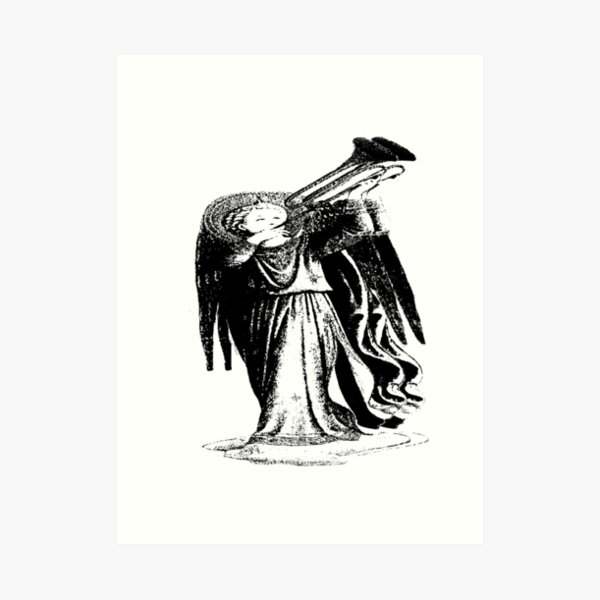 Angel with Trombone? Art Print