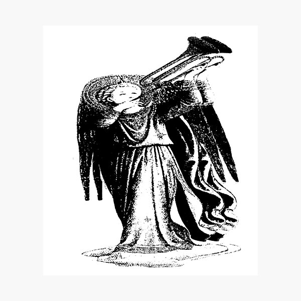 Angel with Trombone? Photographic Print