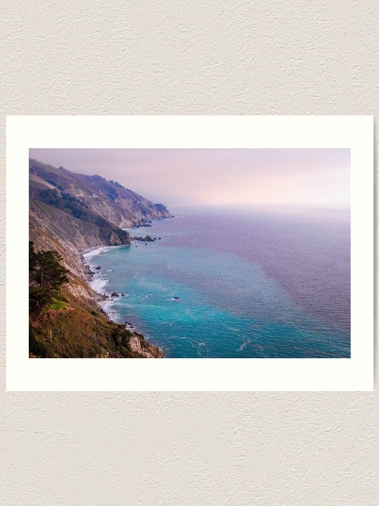 Alternate view of 0743 California Pacific Coast Road Trip - Summer Vacation Landscape Scenic Art Art Print