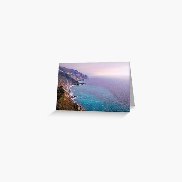 0743 California Pacific Coast Road Trip - Summer Vacation Landscape Scenic Art Greeting Card