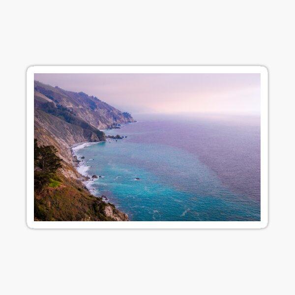 0743 California Pacific Coast Road Trip - Summer Vacation Landscape Scenic Art Sticker