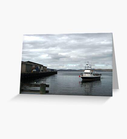 Hobart Wharf Greeting Card