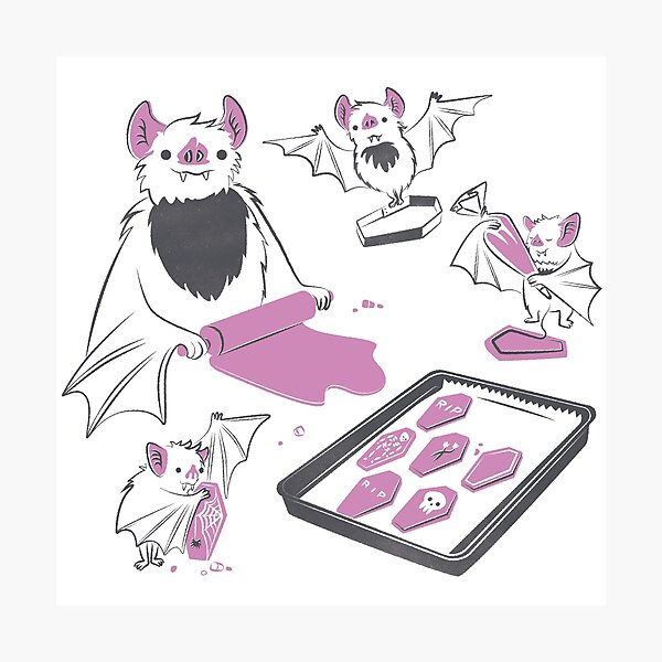 Baking Bats Photographic Print
