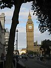 Big Ben Through the Trees by ValeriesGallery