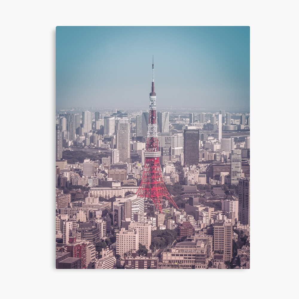 Tokyo Tower Day Canvas Print