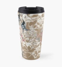 Brain on Surrealism - version for dark color fabrics Travel Mug