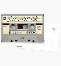 Ich bin nicht okay, Kassette Postkarten