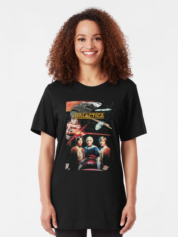 Battlestar Galactica Original Series POSTER IRON ON Long Sleeve T-Shirt S-3XL