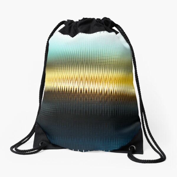The Beach Abstract  Drawstring Bag