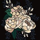 Moody Florals - Cream by latheandquill