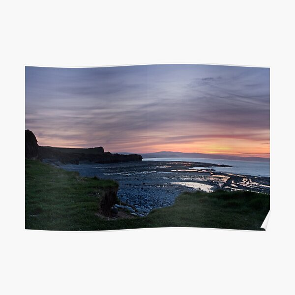 Post Sunset at Kilve Poster