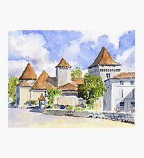 Le Vieux Château, Varaignes Photographic Print