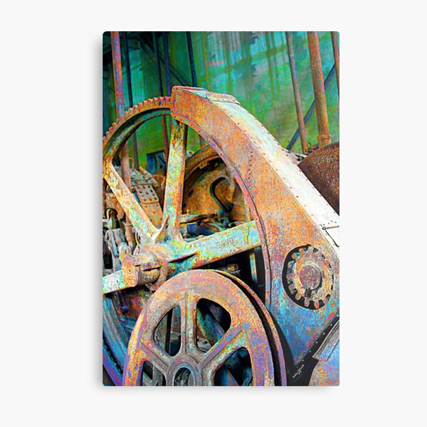 Old Gold Digger Gears Metal Print