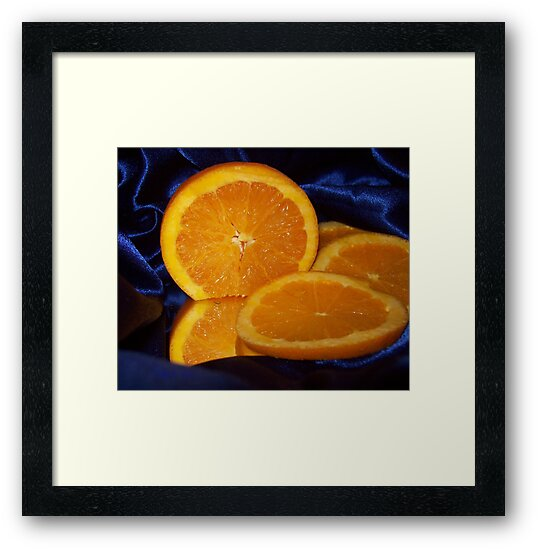 Fruit on Satin by Cathy O. Lewis
