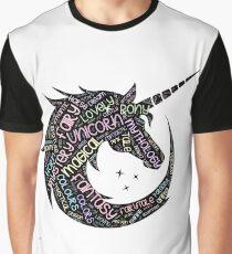 Unicorn Cloud Word Design Einhorn-T-Shirt Grafik T-Shirt