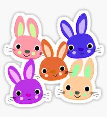 Cute Bunnies Pattern  Sticker