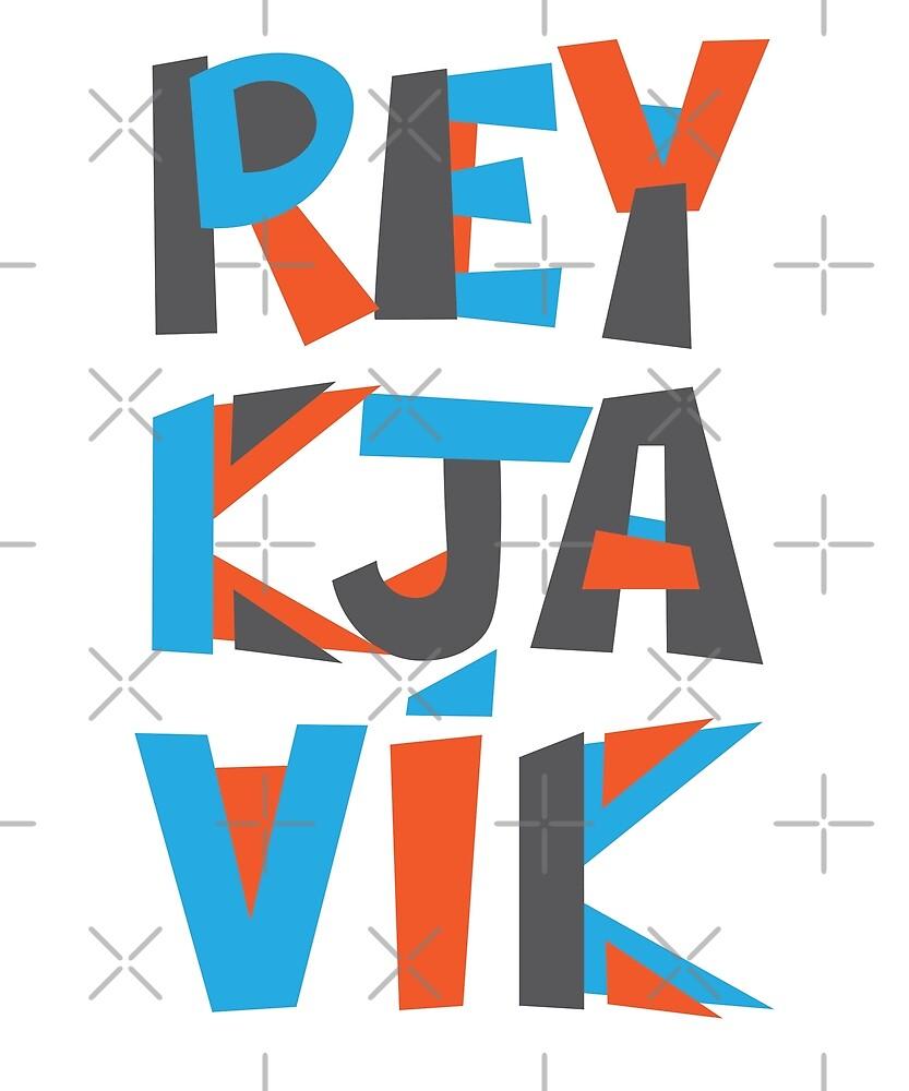 Reykjavik Hand Drawn Text T-Shirt by designkitsch