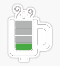 Cup battery charging Sticker
