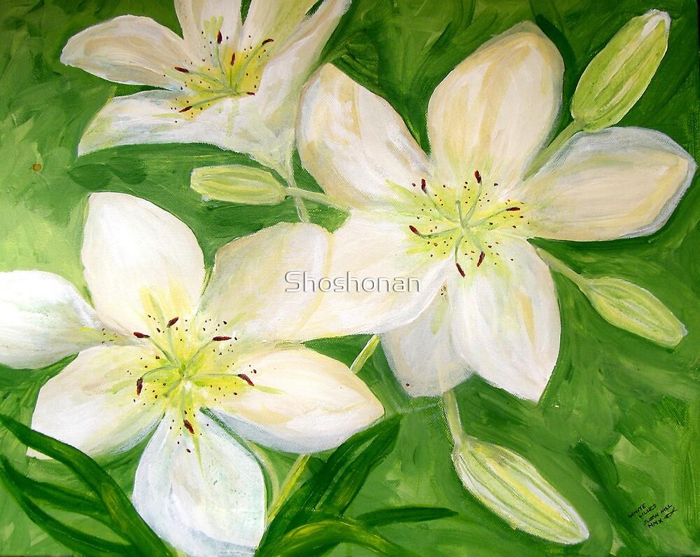 White Lilies by Shoshonan