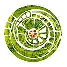 the green spiral cog by Agnew & Roberts