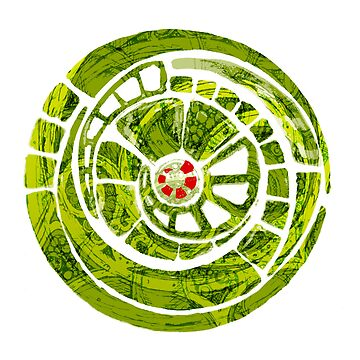 the green spiral cog by agnewandroberts