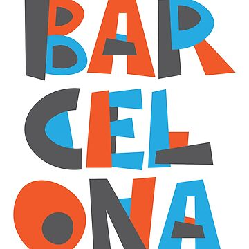 Barcelona Hand Drawn Text T-Shirt by designkitsch
