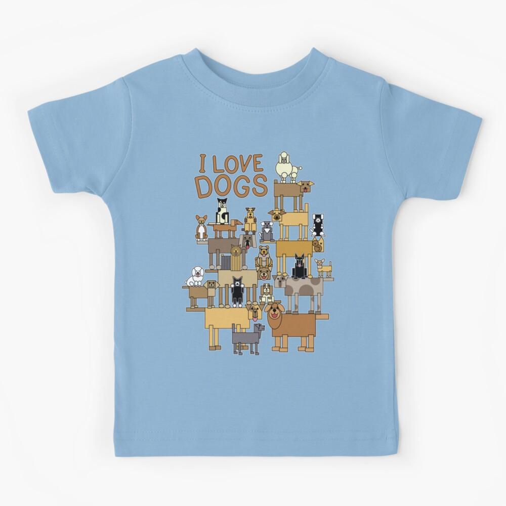 I Love Dogs Kids T-Shirt