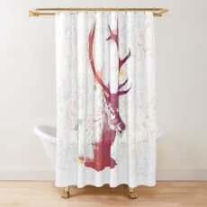Hello Deer Shower Curtain