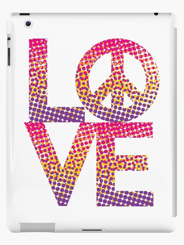 LOVE Peace Color Halftone by Lisann