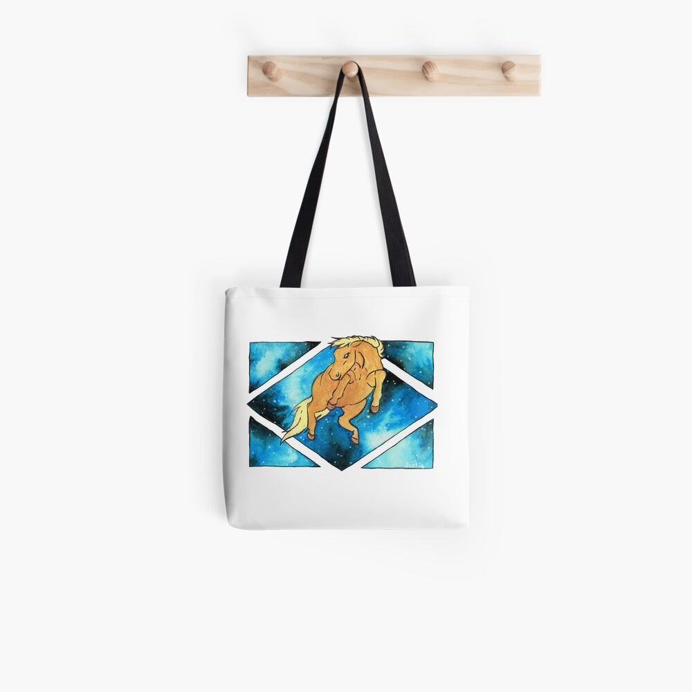 Tote bag «Fenêtre sur la gravitation (Cheval)»