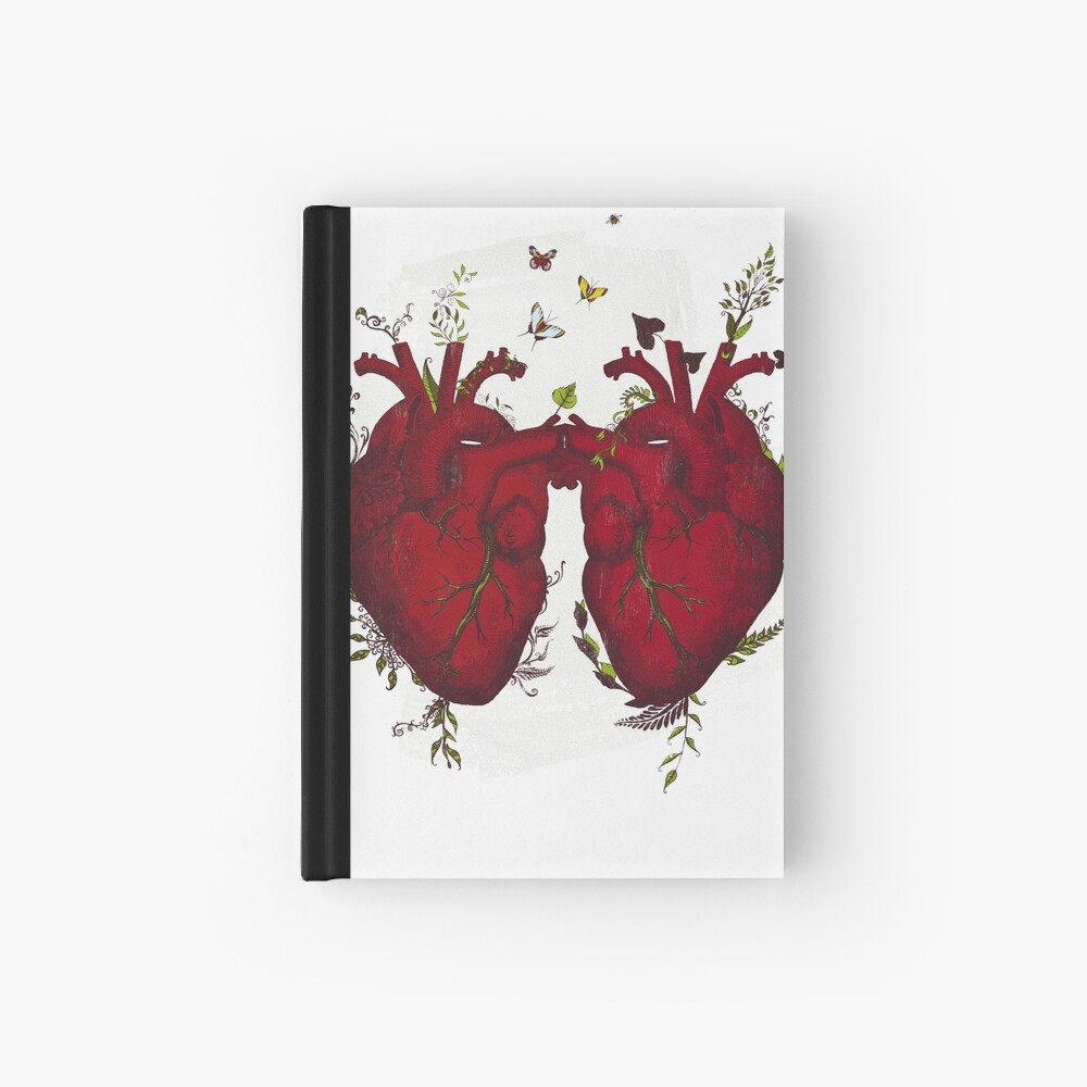 two hearts beating as one Hardcover Journal