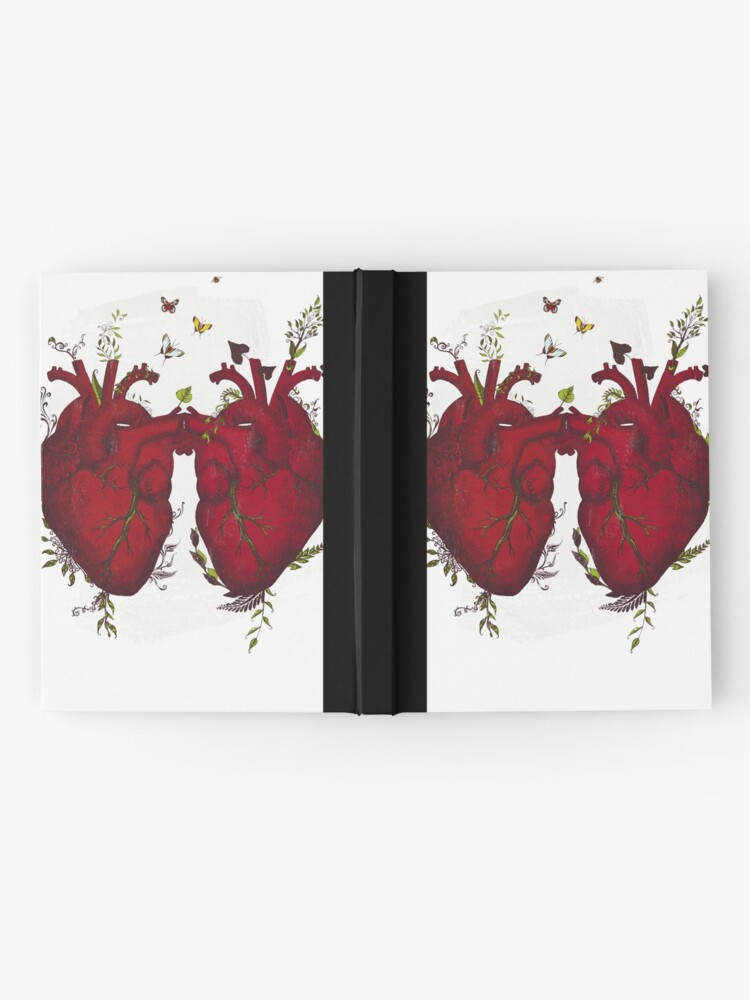 Alternate view of two hearts beating as one Hardcover Journal