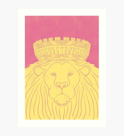 Dublin Castle Lion Art Print