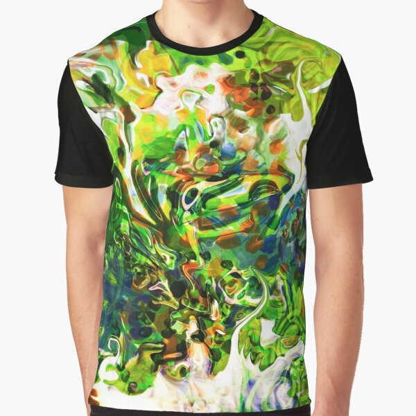 dominant green fluid abstract elements Graphic T-Shirt