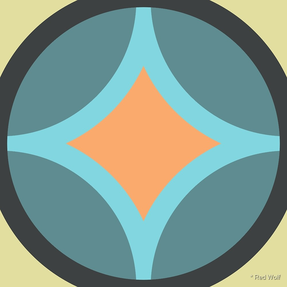 Geometric Pattern: Circle Nested Offset: Winter by * Red Wolf