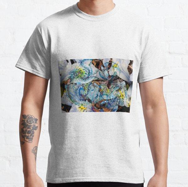 light blue shapes movement abstract art Classic T-Shirt