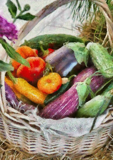 Farm - Fresh Vegetables by Mike  Savad