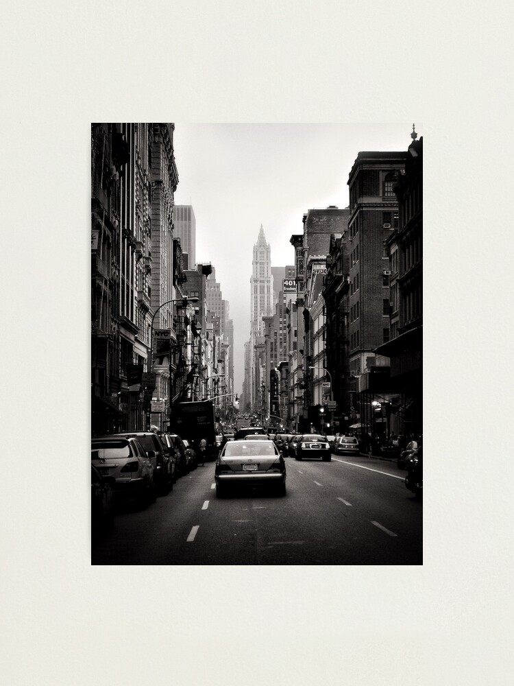 Alternate view of Manhattan avenue in black and white Photographic Print