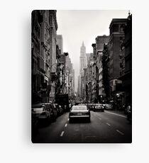 Manhattan Avenue in Schwarz und Weiß Leinwanddruck