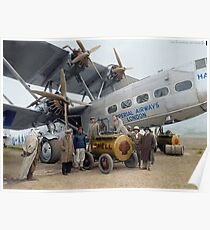Imperial Airways Fueling Up Poster