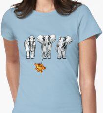 3 elephants-2  Women's Fitted T-Shirt
