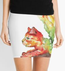 Heart Chakra Cat with Wings Mini Skirt